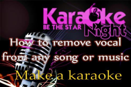 Karaoke software vocal remover
