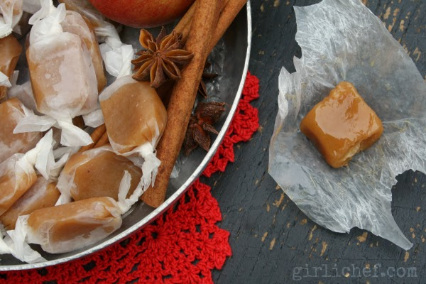 Apple Cider 5-Spice Caramels