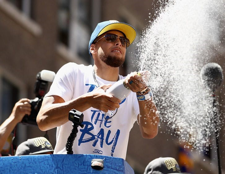 Golden State Warriors lavish $500k on champagne to celebrate their victory