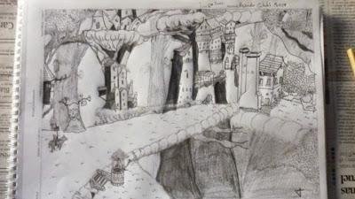 Un genio del dibujo en Beceite