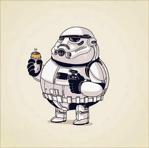Fat Super Hero Gemuk - Fat Strom Trooper