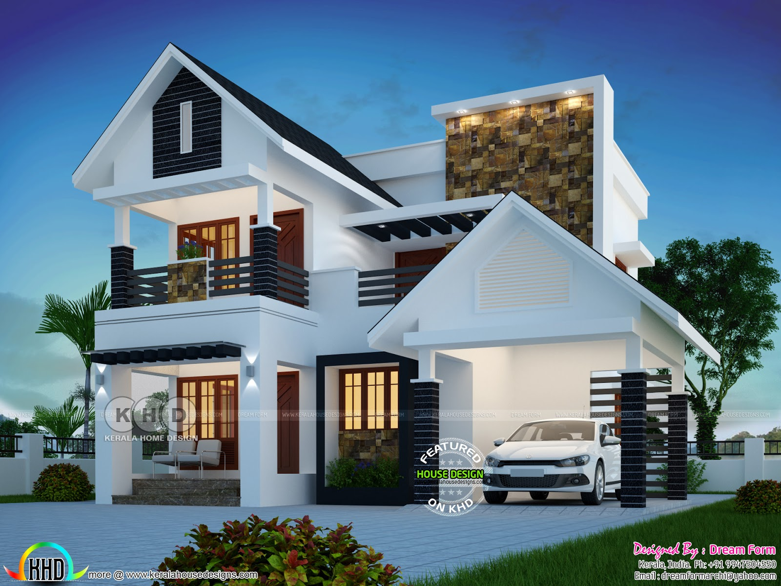 Cute Modern 4 Bedroom 1809 Sq Ft House Plan Kerala Home