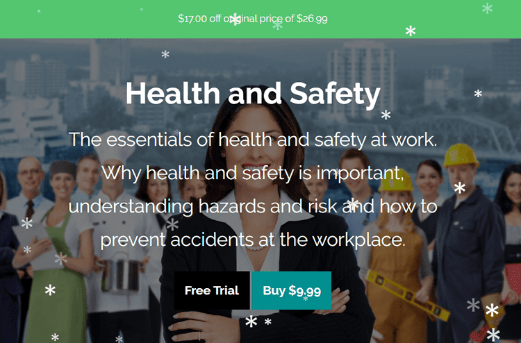 Health and Safety at Workplace Online Course 75% Off