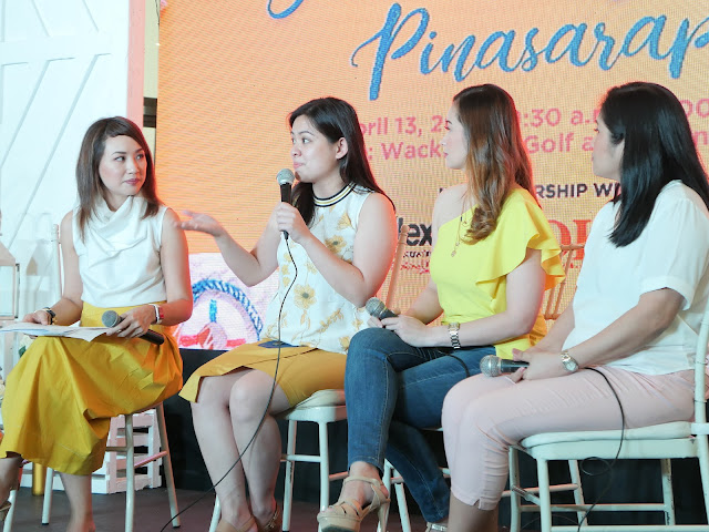 Celine Cornejo with bloggers and businesswomen Ginger Arboleda and Denise Rayala, and celebrity Chef Rosebud Benitez-Velasco