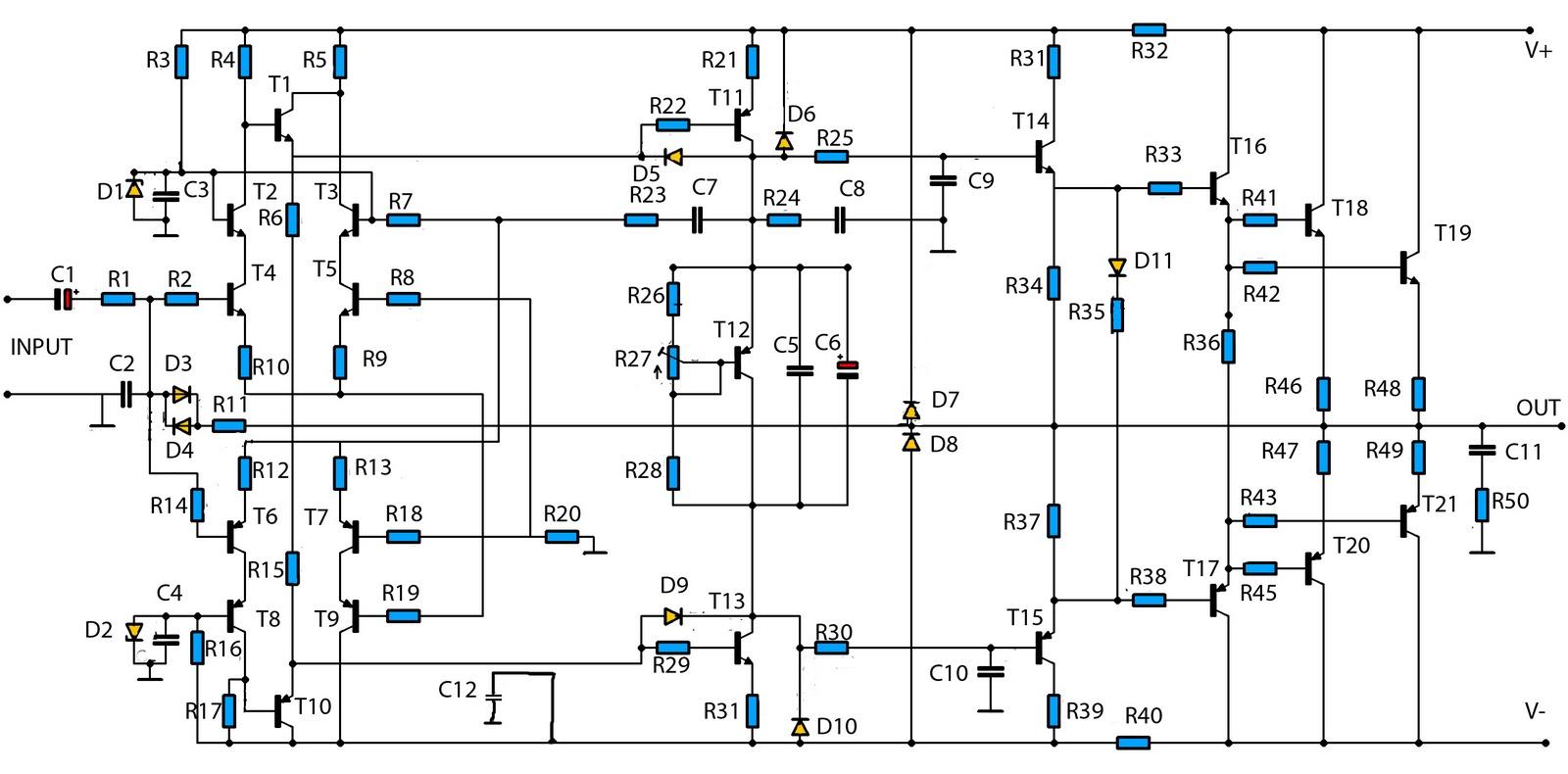 Hobi Elekronika W High Power Audio Amplifier