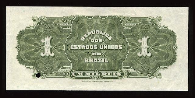 Brazil Um Mil Reis