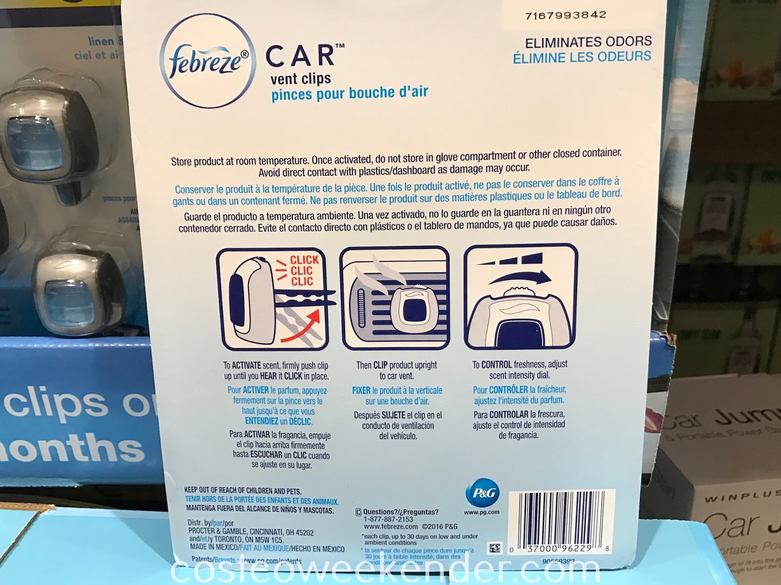 Costco 1160221 - Febreze Car Vent Clip Air Fresheners: great for keeping your car smelling fresh
