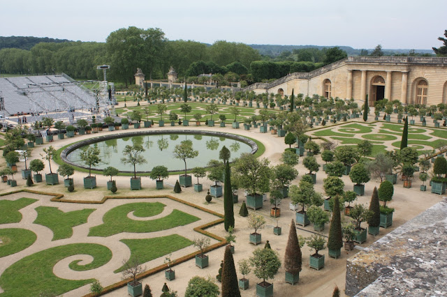 Outside gardens at Versailles