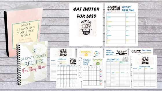 Meal planning guide, printables, templates and meal calendar for meal planning beginners