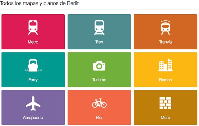 Plano de transporte y mapa turistico de Berln Alemania