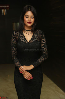Actress Monica in spicy transparent Black Top at O Pilla Nee Valla Movie Audio Launch Feb 2017 099.JPG