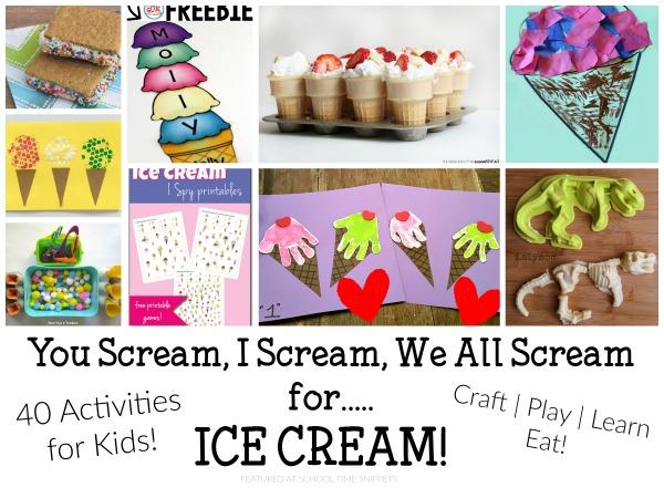 Preschool Ice Cream Activities