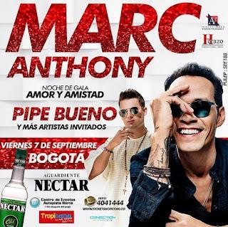 Concierto de MARC ANTHONY - Pipe Bueno en Bogotá 2018