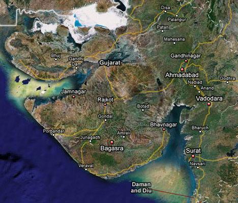 Gujarat Tourism Map Gujarat Tourism   Gujarat Map: Gujarat Tourism   Gujarat Map
