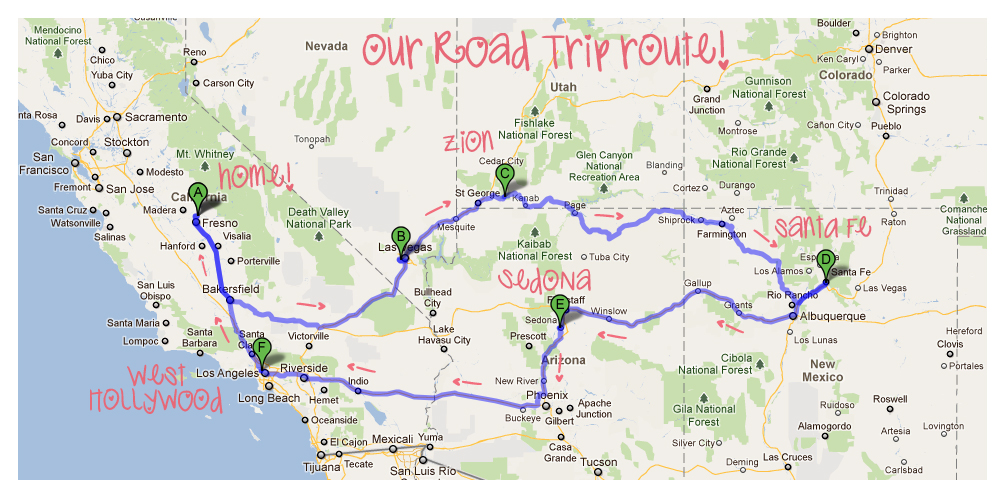 Road Map Of California And Nevada And Arizona Pictures to