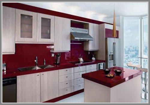 Selama Ini Mungkin Anda Mendandani Dapur Dengan Warna Netral Seperti Putih Atau Lat Namun Bila Ingin Menciptakan Kesan Yang Berbeda