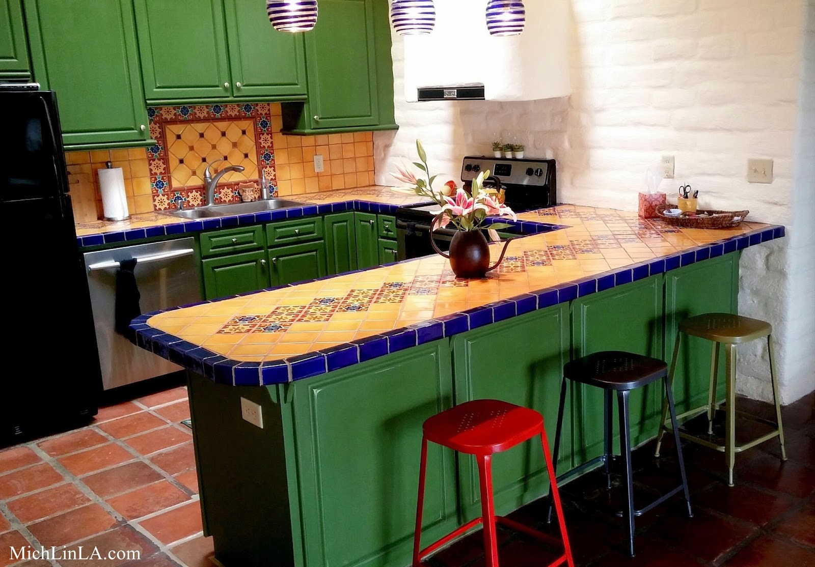 Mich L in LA My Mexican Tiled Kitchen