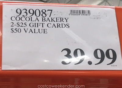 Deal for the Cocola Bakery 2 $25 Gift Cards at Costco