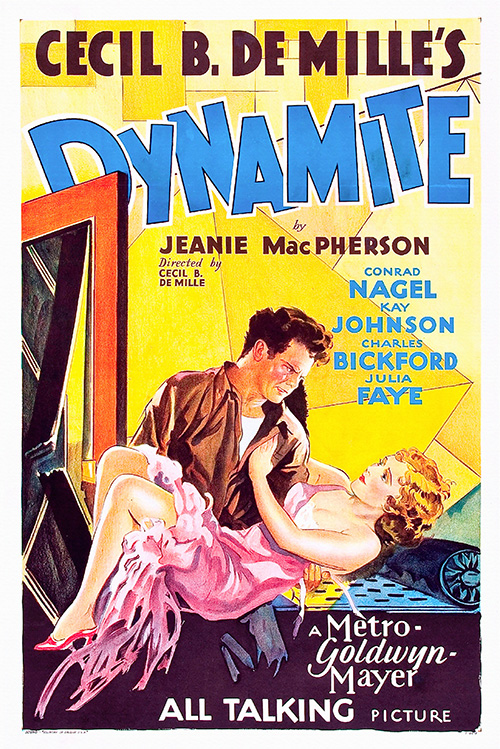 Dynamite - Vintage Classic Movie Poster, classic posters, free download, free posters, free printable, graphic design, movies, printables, retro prints, theater, vintage, vintage posters, vintage printables