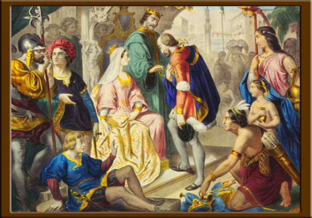 Gambar Kolumbus dan Monarki Katolik