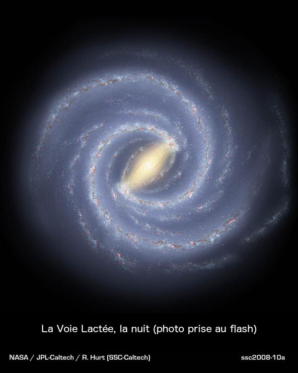 La Voie Lactée, la nuit (photo prise au flash)