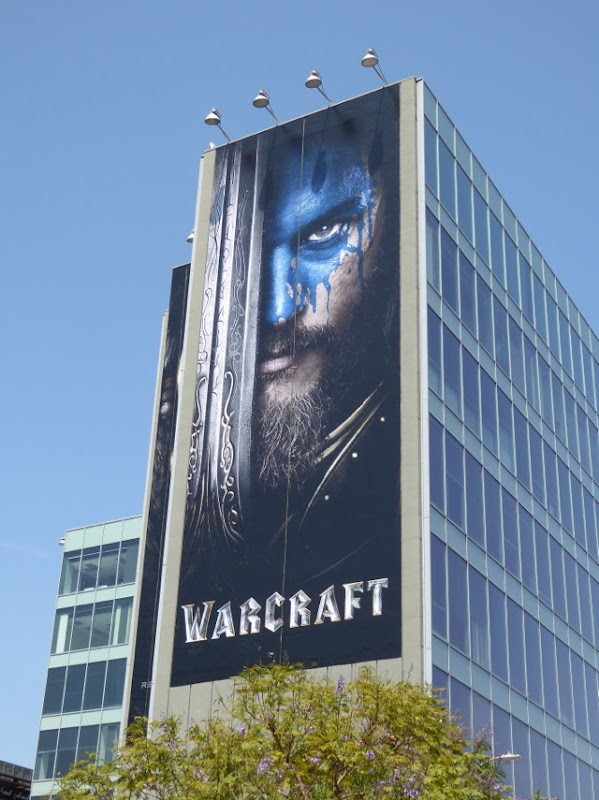 Giant Warcraft film billboard