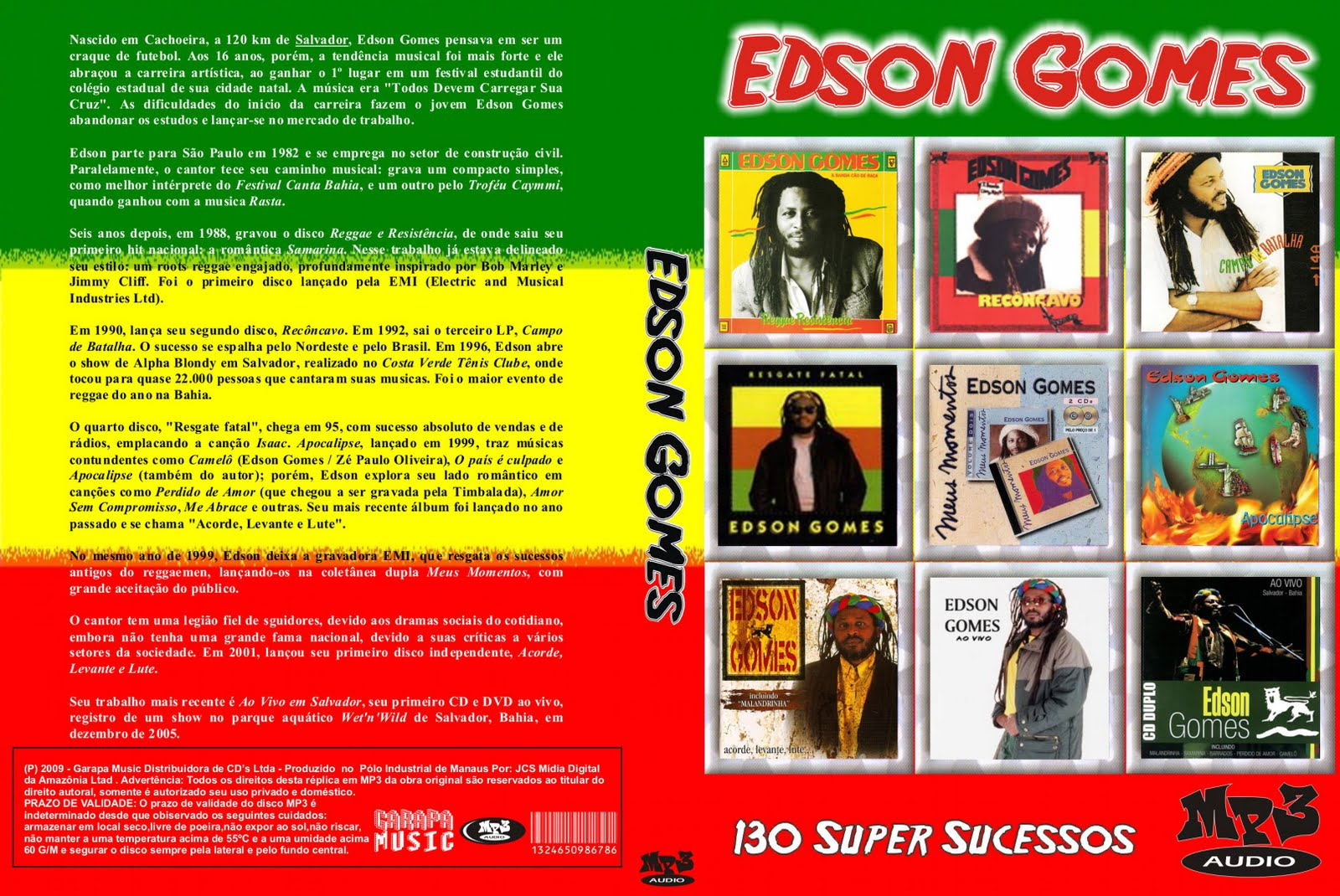 cd edson gomes discografia