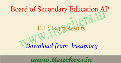 AP D.Ed 2nd year results 2018, AP Ded result 2018