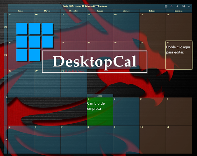 Desktop Calendar V2.2.23.4220 | Calendario configurable para el escritorio de Windows