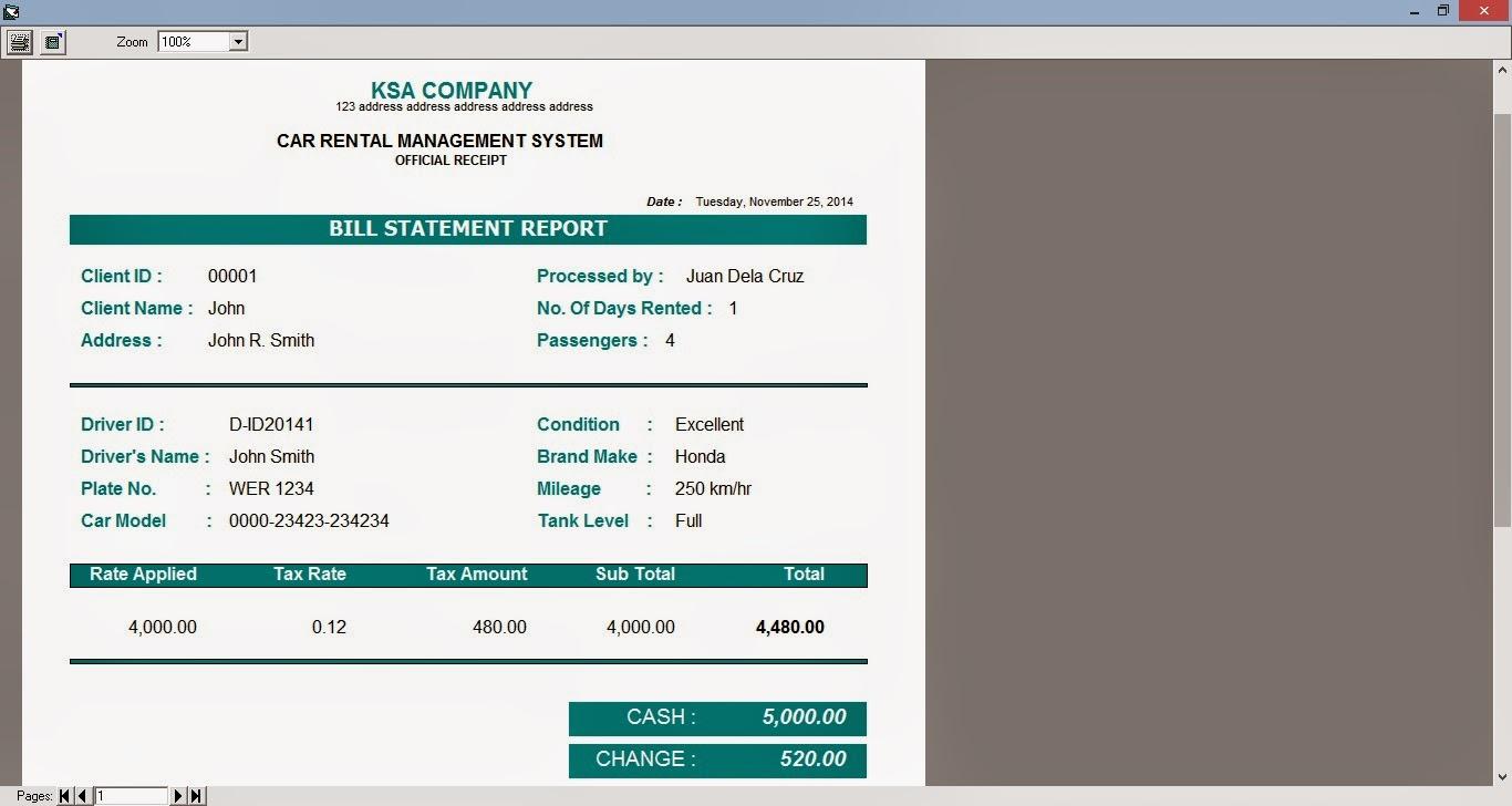 Project: Car Rental Management System - code4dev