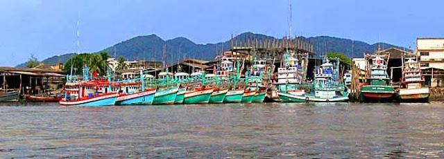 Ranong Harbor and Fishing Trawler