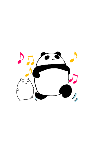 Panda and White Hamster