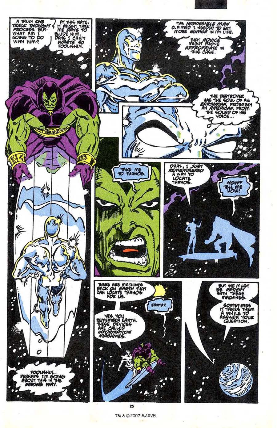 Read online Silver Surfer (1987) comic -  Issue #37 - 27