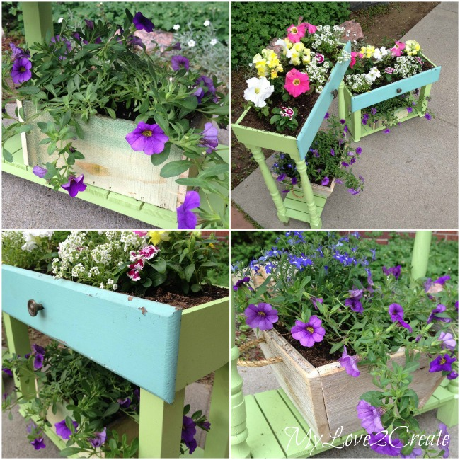 MyLove2Create, Old Drawers into Porch Planters