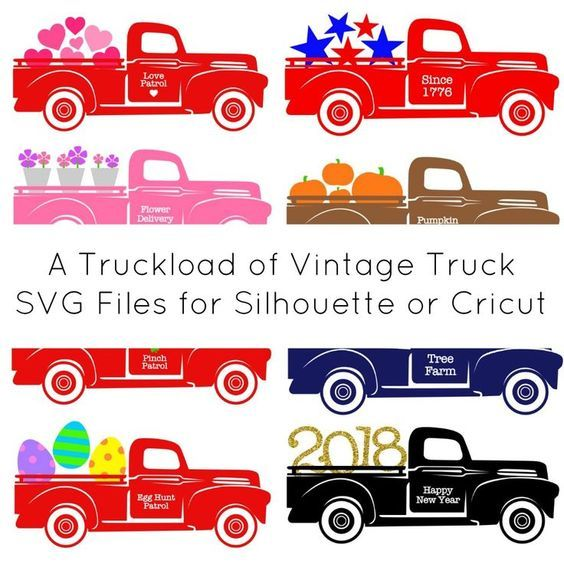 Christmas Tree Truck Svg Free.Fields Of Heather Vintage Red Truck Free Svgs Project Ideas
