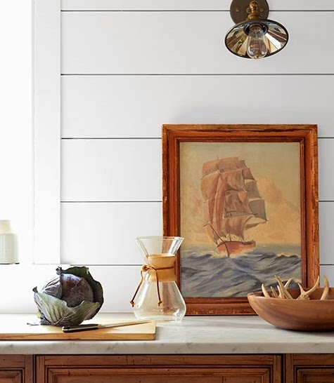 vintage painting ship