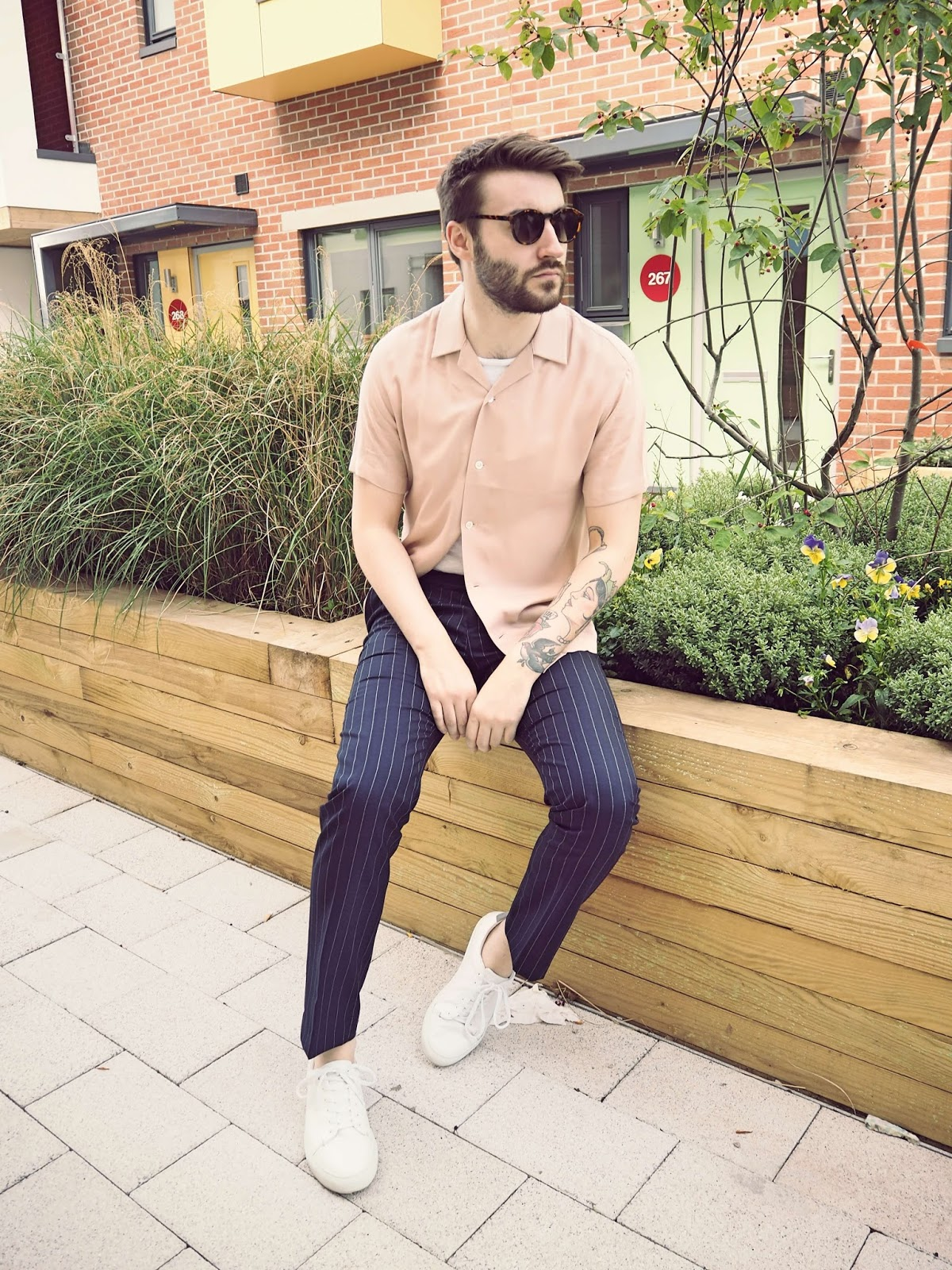 rebirth of the cool fashion mens blog style bristol reiss pink pin stripe