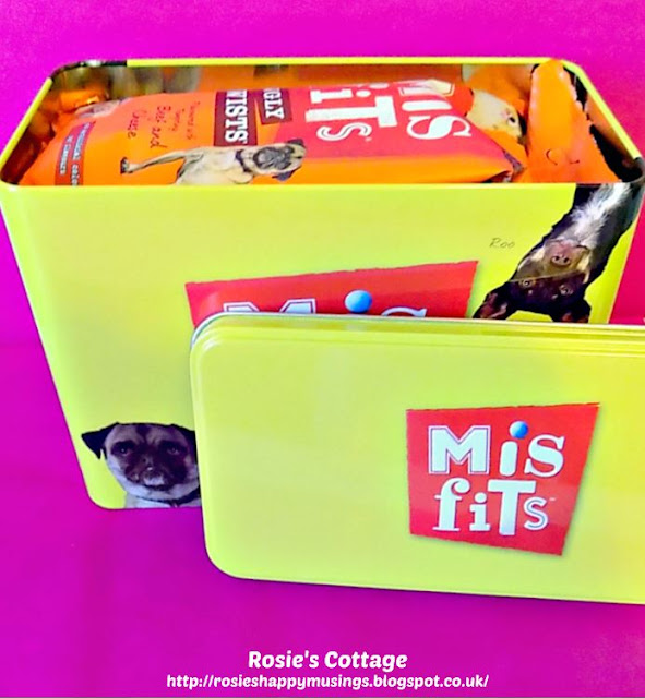 Misfits Dog Treats Tin Contents