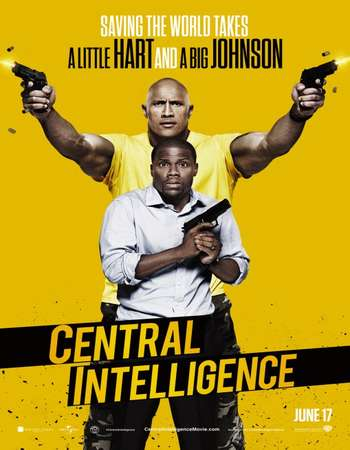 Poster Of Central Intelligence 2016 ORG Dual Audio 500MB BRRip 720p ESubs HEVC - Theatrical Free Download Watch Online downloadhub.net