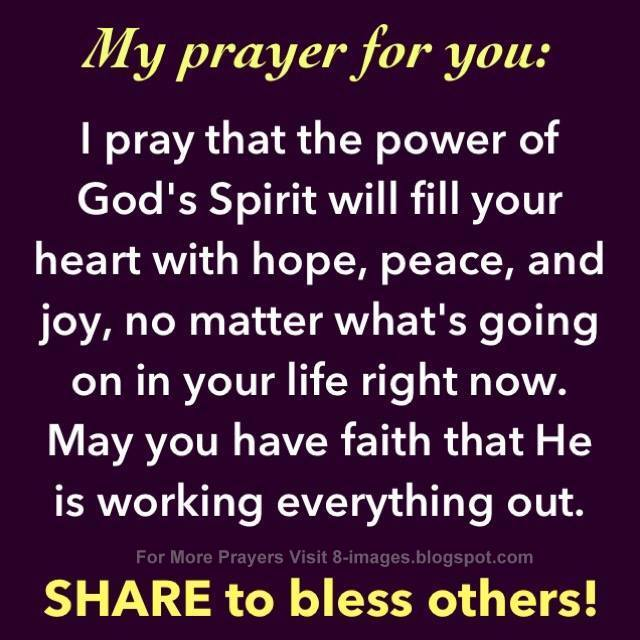 Prayer Of Hope Peace And Joy Quotes
