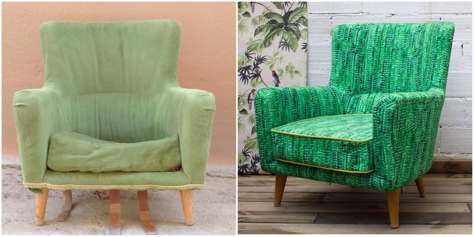 Antes y después - Sillón tapizado - Studio Alis
