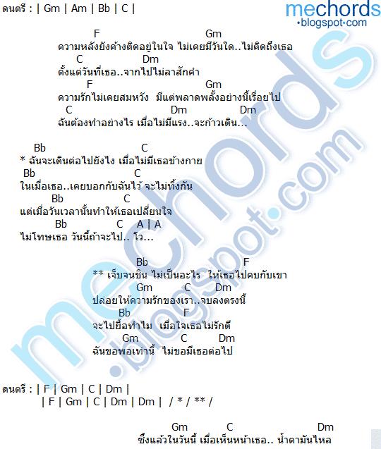 คอร์ดเพลง เจ็บจนชิน วงโคจร feat.บีบี คัพเค้ก
