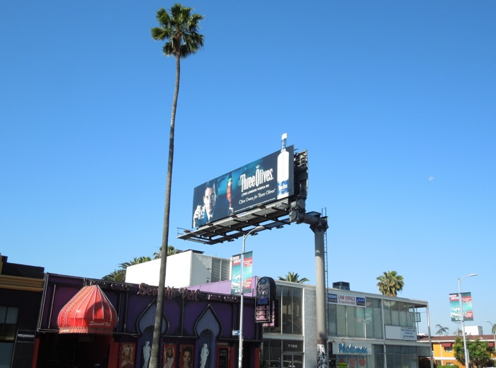 Three Olives Vodka billboard Sunset Boulevard