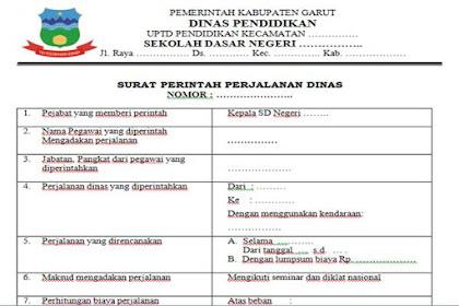 SPPD (Surat Perintah Perjalanan Dinas) Kepala Sekolah Dasar