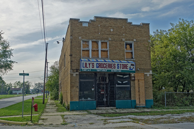 Abandoned Lily's Groceries Store in Dixmoor Illinois