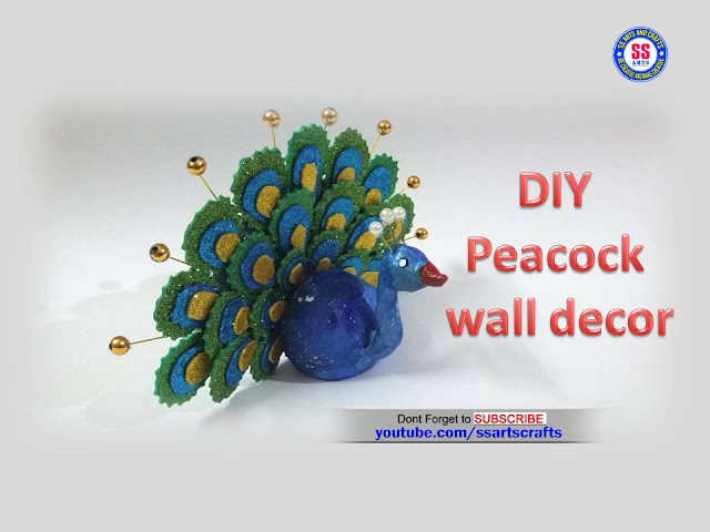 Here is how to make peacock at home,peacock wall decor ideas,how to make peack glitter foam sheet,foam sheet crafts,foam sheet wall decor ideas,foam crafts,how to make peacock using shilpakar clay,kids crafts,wall decor ideas,peacock making at home,how to make peacock using shilpakar clay glitter foam sheet