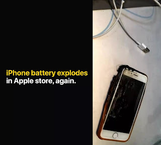 iPhone battery Explode