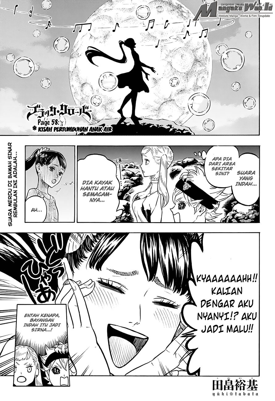 Black Clover Chapter 58 Kisah Pertumbuhan Anak Air