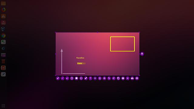 Flameshot screenshot tool taking screenshot