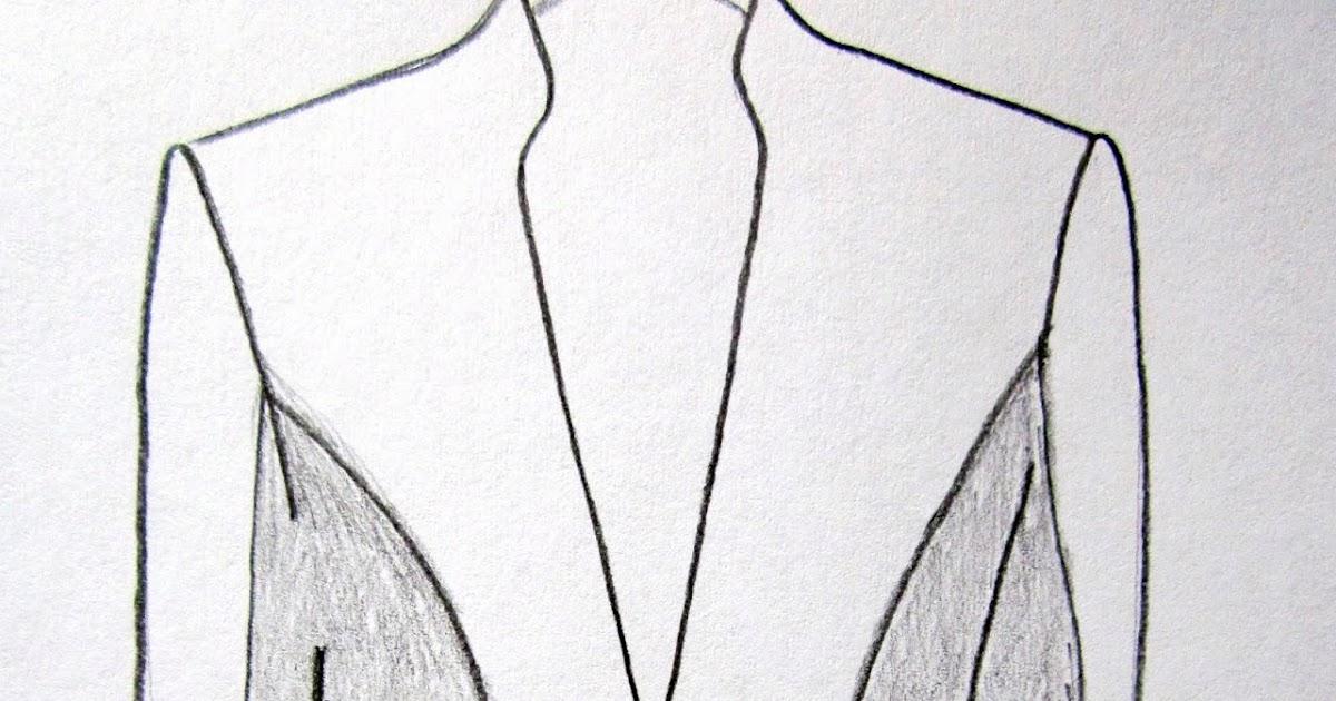 Trazado patrón de costura Chaqueta. Espalda